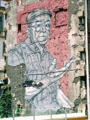 A striking piece of street art seen in Porto