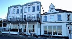 The Hotel Continental is in a prime location as it's the only beach front hotel in Whitstable.