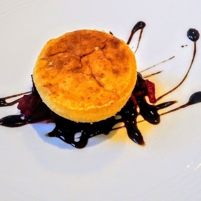 And my favourite dish - a twice-baked cheese souffle